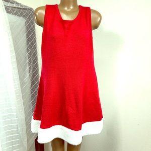 Holiday Time Santa Sleeveless Dress XL
